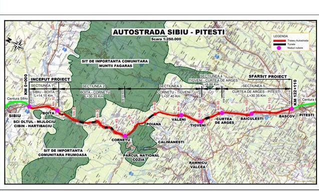 Încep lucrările pe autostrada Sibiu-Pitești!